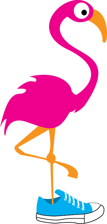 running flamingo